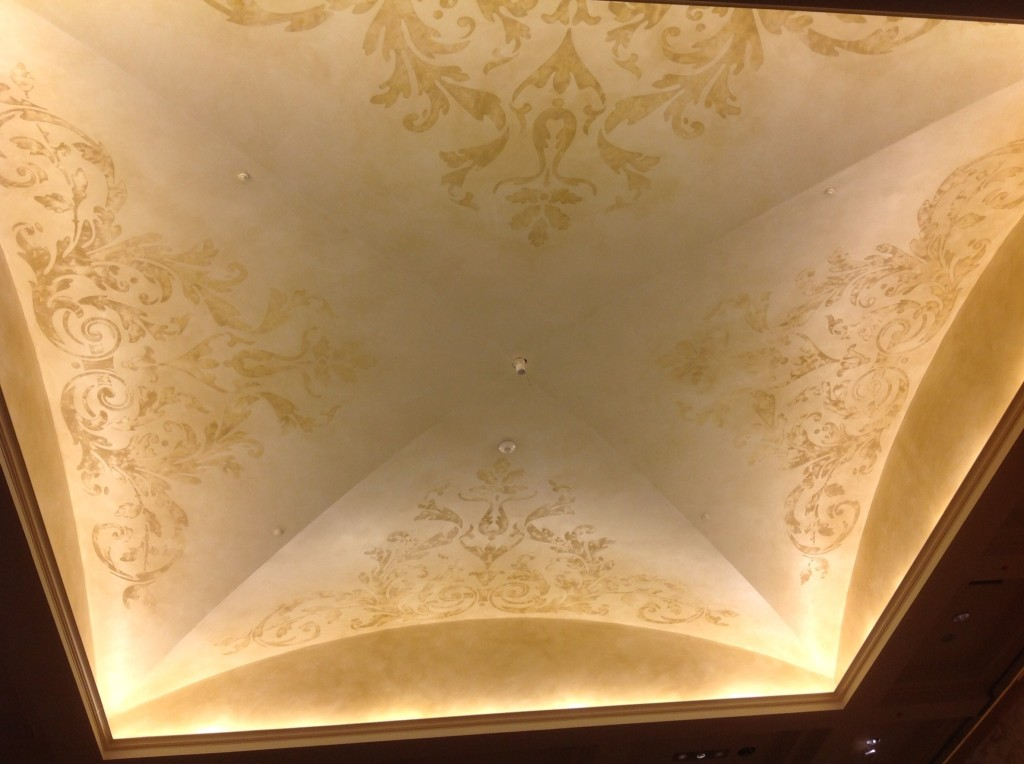 Larkfield Manor...Grand Foyer Ceiling