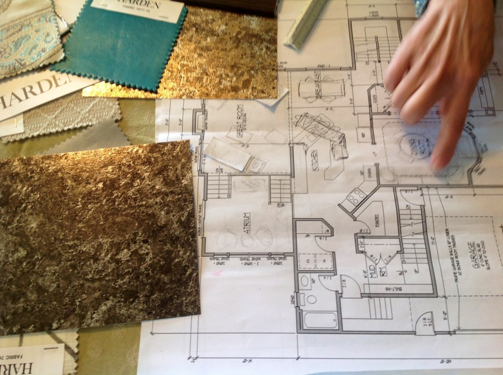 A glimpse into one of the many brainstorming and sample review sessions I had with Rene Settineri...the celebrated Interior Designer who commissioned my work for the 2014 Central New York Parade of Homes.