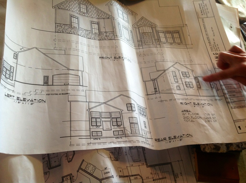 The Genevieve Model Blueprints - courtesy of JMG Custom Homes...our seed of inspiration for the 2014 CNY Parade of Homes tour
